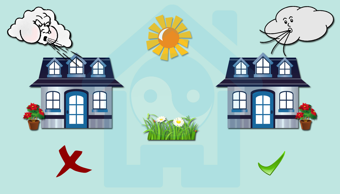 Phong thủy nhà phố khuyên không nên chọn nhà có gió thổi quá lớn