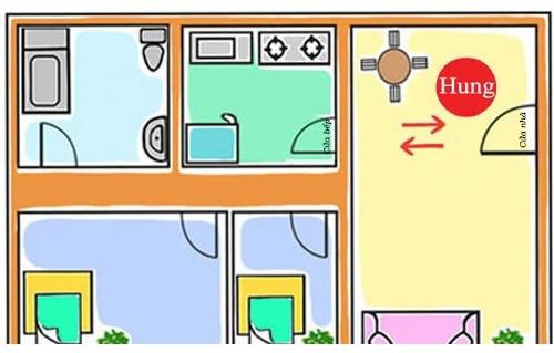 Cửa đối cửa là phạm kiêng kỵ nhà bếp