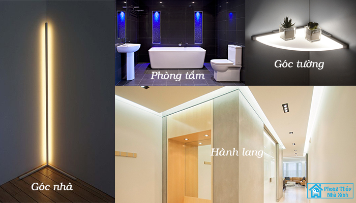 Xác định khu vực cần ánh sáng trước khi sử dụng đèn LED