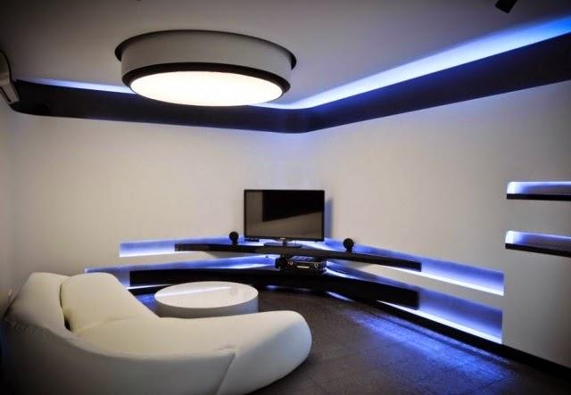 Sử dụng đèn LED trong phòng khách