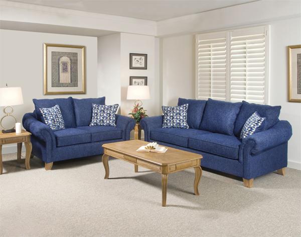 Chọn nội thất màu xanh lam cho phòng khách hướng Bắc (Ảnh minh họa)