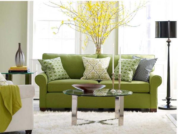 Hướng phòng khách là hướng Đông thì đồ nội thất nên là xanh lá (Ảnh minh họa)