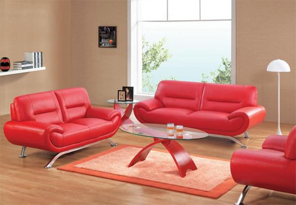 Phòng khách hướng Nam thì nên chọn đồ nội thất có màu đỏ (Ảnh minh họa)