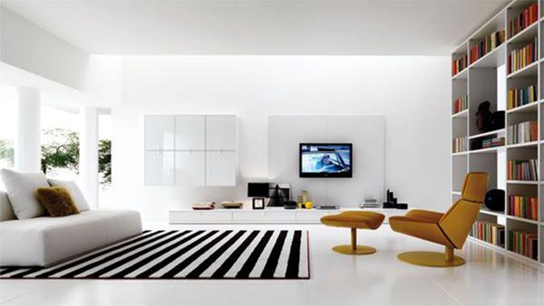 Phòng khách không nên sơn màu tối,, nội thất phải đồng đều phong cách (Ảnh minh họa)