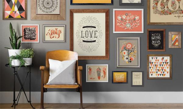 Màu sắc tường và màu sắc khung ảnh cần có sự hài hòa lẫn nhau (Ảnh minh họa)