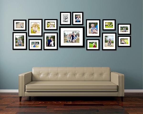 Nếu là ảnh chụp gia đình thì nên chọn vị trí trang trọng để treo (Ảnh minh họa)