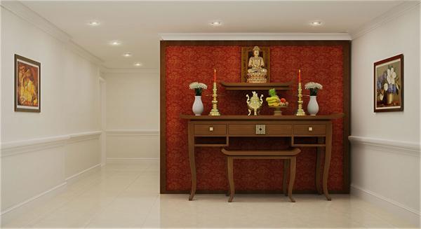 Bài trí bàn thờ chuẩn phong thủy thì gia trạch an yên (Ảnh minh họa: Dream Home Palace)