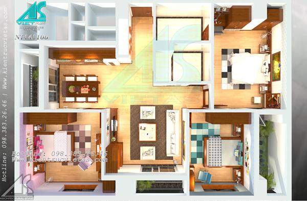 Không gian nhà ở nên có sự phân chia rõ ràng (Ảnh minh họa: Kientrucvietas)