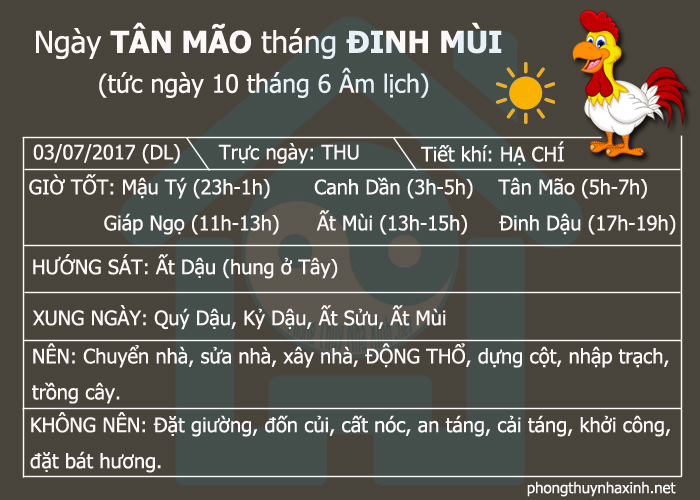 Những ngày tốt để Động Thổ trong tháng 7 năm 2017 (Ảnh 3)